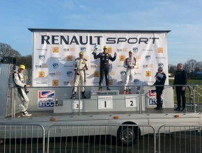 1st - Alex Morgan, 2nd Rob Smith, 3rd - Josh Cook on the podium after race 1