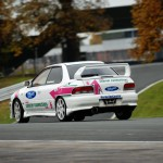 Martin McGeough in one of the Courier Connections Subaru's at Oulton Park 2013